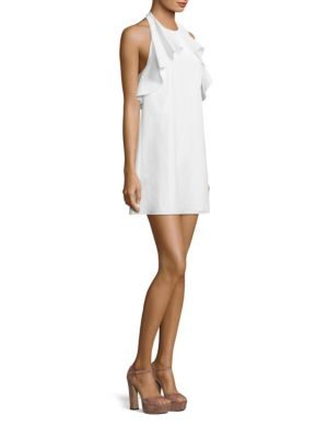 Gwenie Ruffled Halter Dress