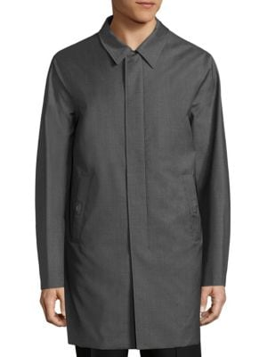 Solid Cotton Knit Coat