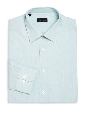 Regular-Fit Nano Check Dress Shirt