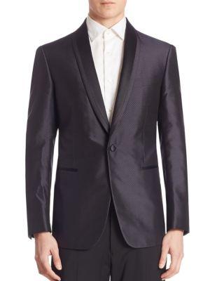 Diamond Jacquard Silk Jacket
