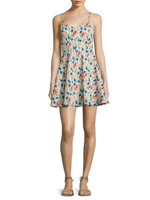 Nella Printed Fit-&-Flare Dress