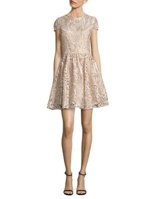 Gracia Lace Fit-&-Flare Dress