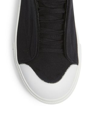 ALEXANDER MCQUEEN Canvas & Leather Low-Top Sneakers