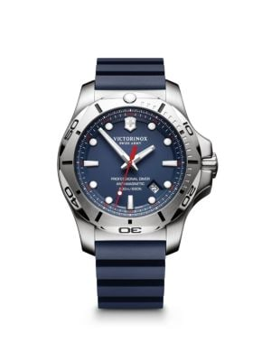 Inox Stainless Steel Professional Rubber Strap Watch
