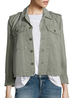 Cotton Canvas Army Jacket