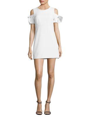 Mod Tie-Sleeve Cold-Shoulder Dress