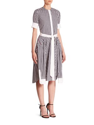Short Sleeve Gingham Shirtdress