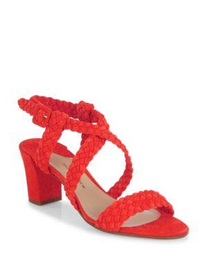 Elisabet Woven Suede Block-Heel Sandals
