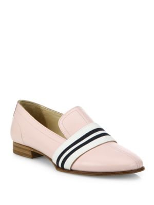 Alfie Stripe Web Leather Loafers