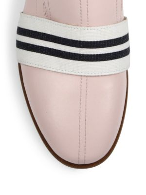 RAG & BONE Amber Striped-Web Leather Loafer, Black