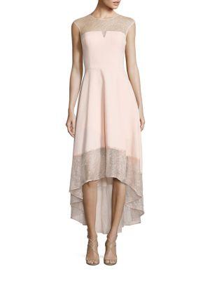 Crepe & Lace Cocktail Dress