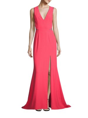 Crepe & Lace Gown