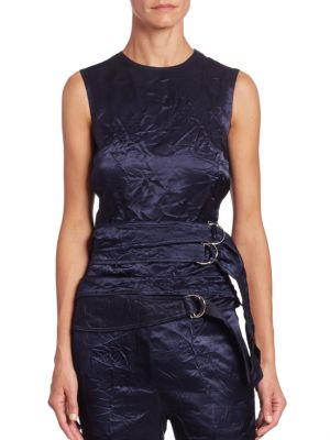 Belted Backless Top by Victoria Beckham