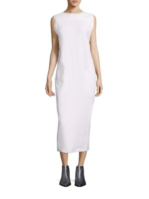 Deja Linen-Blend Dress