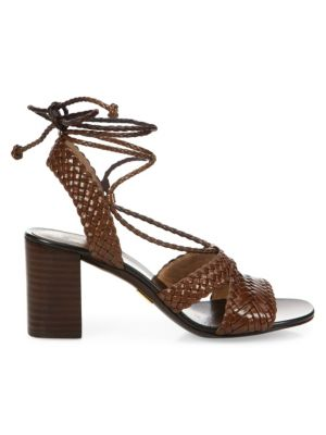Lawson Leather Lace-Up Sandals