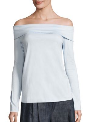 Off-The-Shoulder Mercerized Cotton Top