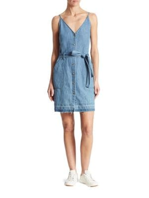 Carmela Cotton & Linen Chambray Dress