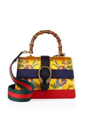 Dionysus Brocade & Leather Top-Handle Bag