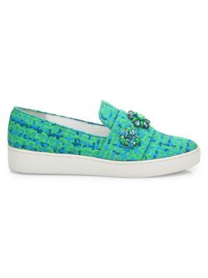 Henna Jeweled Jacquard Skate Sneakers