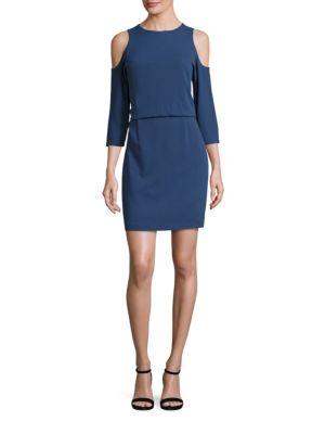 Savanna Cold Shoulder Crepe Dress