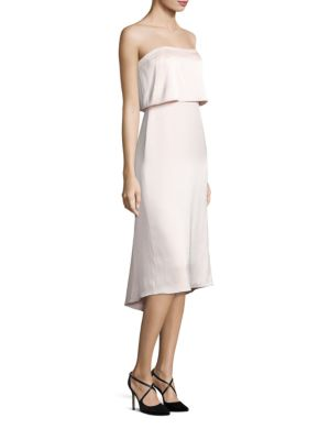 Strapless Popover Satin Dress