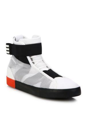 Loop Court High-Top Sneakers