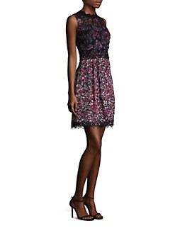 Elie tahari lace sheath dress
