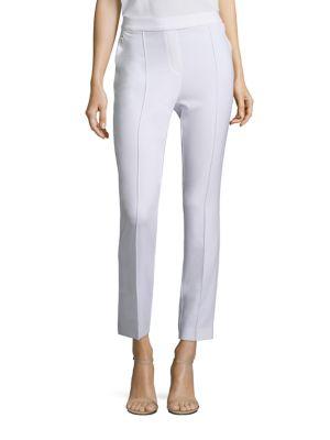 Arabella Crepe Straight-Leg Pants