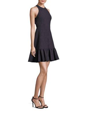 Textured Ruffle Dress