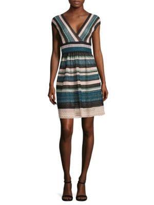 Striped Multi-Laced Dress