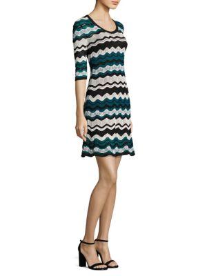 Wavy Knit Dress