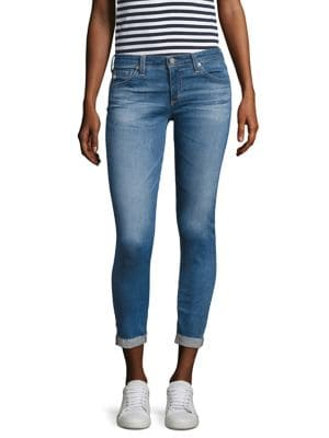 Stilt Roll-Up Raw Hem Jeans by AG