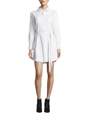 Hartley Frayed Denim Shirtdress
