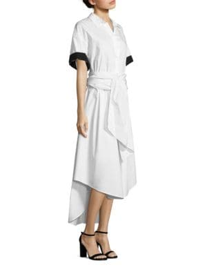 Short-Sleeve Cotton Dress