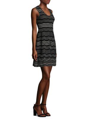 Wavy-Print Knit Dress
