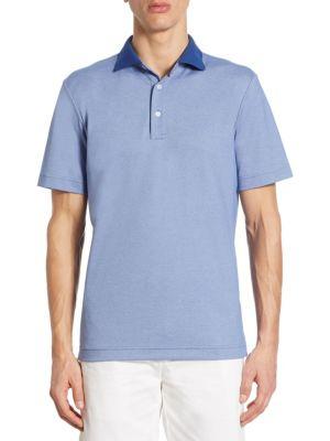 COLLECTION Contrast Collar Cotton Polo
