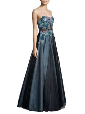 Strapless Lace Ball Gown