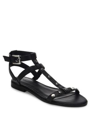 Sandy Studded Leather Gladiator Sandals