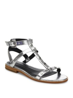 Sandy Studded Metallic Gladiator Sandals