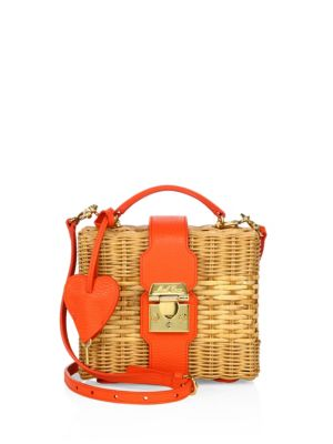Harley Rattan & Leather Convertible Clutch