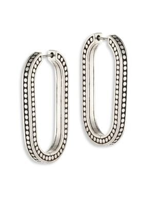 Dot Large Sterling Silver Link Earrings/2""