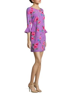 Rochie scurtă LAUNDRY BY SHELLI SEGAL Floral