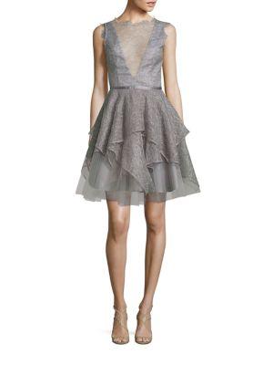 Arrow Tiered Cocktail Dress