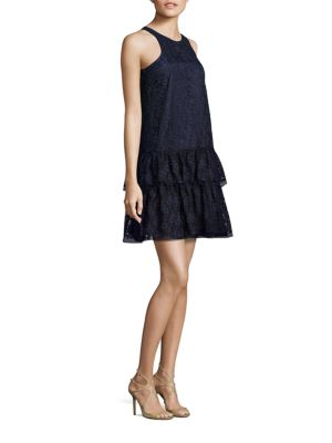 NHA KHANH Gris Racerback Fit-And-Flare Dress