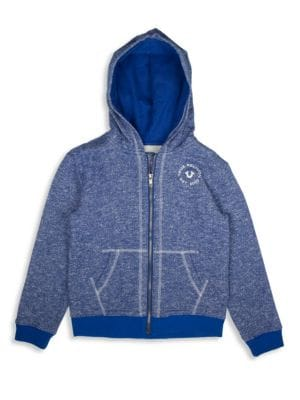 Little Boy's Marled French Terry Hoodie