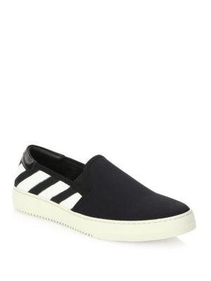 Striped Slip-On Sneakers