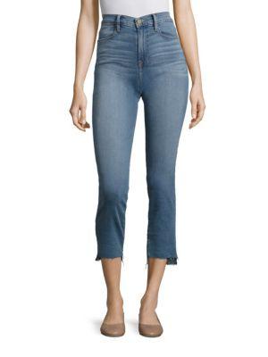 Le High Straight-Leg Step Hem Jeans
