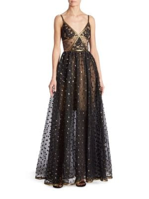 Polka Dot Lace Gown