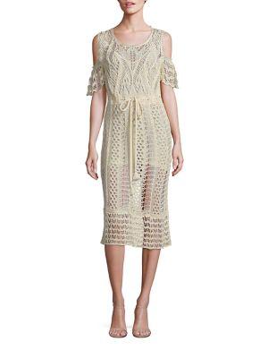 Cold-Shoulder Crochet Dress
