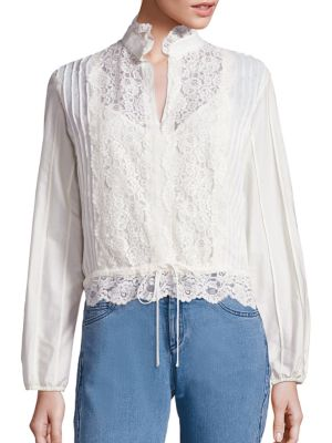 Cotton Lace Blouse by